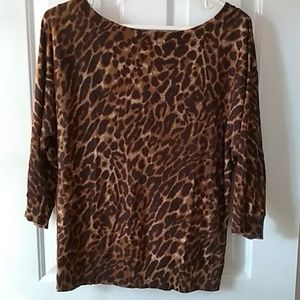 Leopard chaps thin sweater